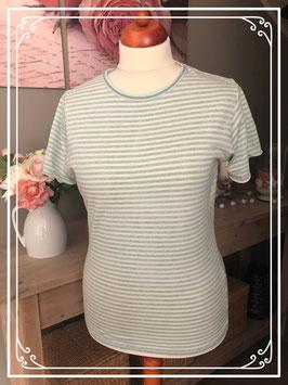 Mint groen gestreept t - shirt van het Merk - Pull & Bear Maat - M