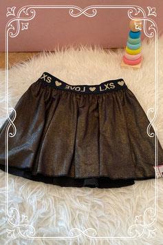 Zwart-gouden rokje van het merk Looxs - maat 110