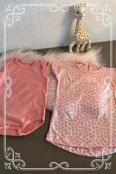 Tweedelige roze setje van het merk Noppies - maat 56