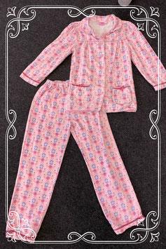Leuke 2-delige pyjama met bloemen van Girls Original maat 128/134
