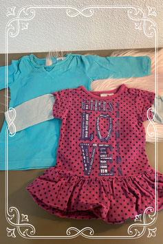 2 schattige jurkjes van Noppies en Prenatal maat 56