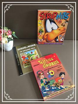 Set van drie verschillende stripboeken
