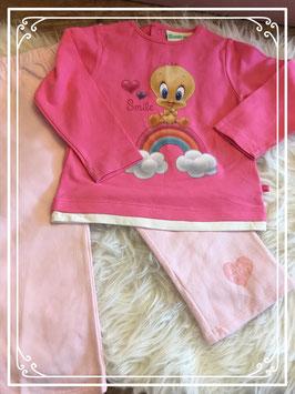 Tweedelig roze setje van Looney Tunes - maat 86