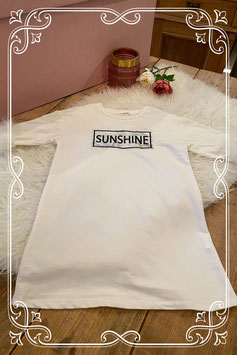 Witte jurk met tekst 'sunshine' van SHEIN - Maat 128