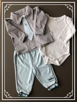 Complete set lichtblauw en grijs - Maat 62