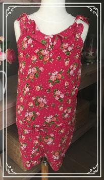 Roze bloemen jumpsuit van D-Zine Jeans - Maat 164-170