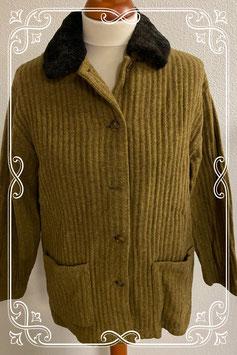 Warme en dikke wollen jas van Josephine & Co in maat 40