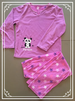 Warme fleece pyjama-maat 128