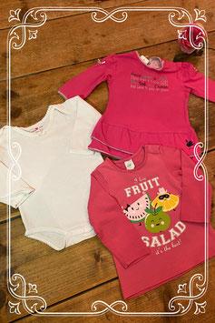 Set van Prénetal romper en jurk en H&M shirt - maat 62/68