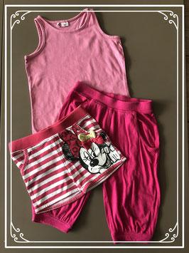 DRIEDELIG Roze kleding set - Maat 92