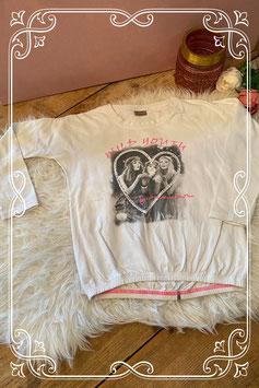 Wit shirt met opdruk van CLAIRE - Maat 128