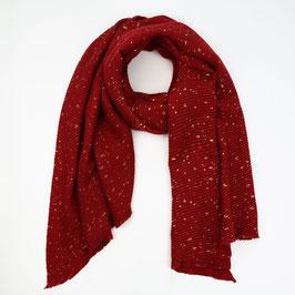 Nieuw: Sunset Fashion - Ribbel sjaal met glinsters - Rood