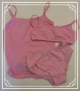 Driedelig roze ondergoed setje Fr3ndz - maat 98-104