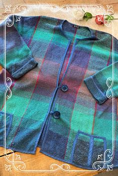 Blauw-groen jasje van het merk Puuvilla - maat 50