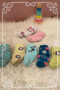 Vrolijk gekleurde sokjes 7 paar - Maat 74-80