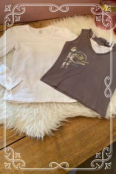 2 delige kledingset van verschillende merken - Maat 134/140