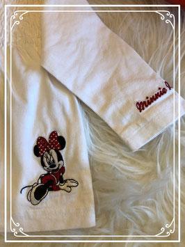 Wit t-shirt van merk Disney met op de voorkant gesmokt - maat 74