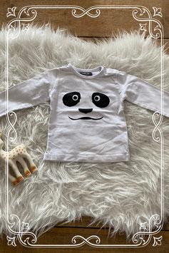 NIEUW: wit panda shirtje van HEMA - maat 68
