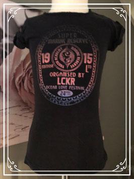 Zwart shirt met gave print van LCKR - Maat 122