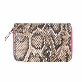 Nieuw: Yehwang - Wallet Sassy Snake - Pink - 9 x 14 cm