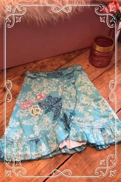 Blauwe bloemen rok van Cakewalk - Maat 152