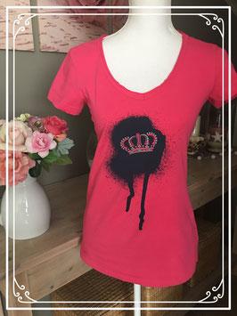 Roze t-shirt met korte mouw van Love2Wait - maat S