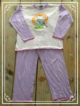 Lila met roze Sesamstraat pyjama - Maat 122-128