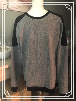 Grijze gemeleerde trui merk CAPSIZE - maat XL