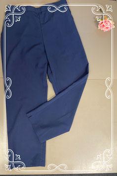 Donkerblauwe broek met elastiek in maar 38/40