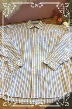Lichtblauw/wit overhemd van HEMA - Maat M