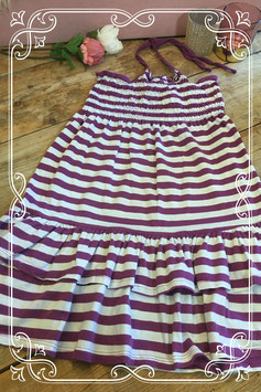 Paars-wit gestreepte jurk van MTX Basics - maat 158-164