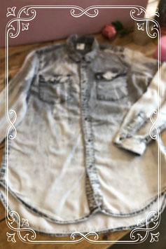 Grijs Denim overhemd van de H&M - maat L