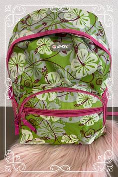 Stoere rugtas in groen met roze van Hi-Tec