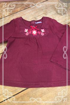 Paars lange mouwen shirt met bloemenprint van HEMA - Maat 92