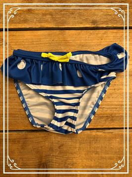 Blauw wit zwembroekje met gele strik - Maat 74