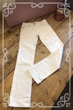 Witte broek van Brams Paris - Maat 140