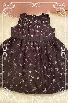 Zwart jurkje met sterren print van Name it - Maat 86