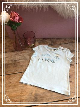Lichtblauw T-shirt van IKKS - Maat 80