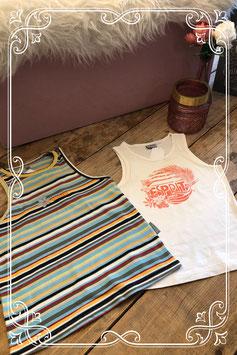 Wit hemd van ESPRIT met merkloos gestreept hemd - Maat 140/146