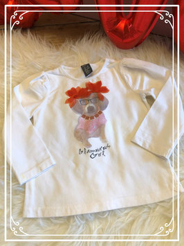 Witte shirt met print van een hond van de Zara - maat 98