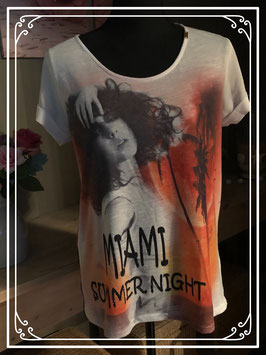Oranje T-shirt van GLITZ&GLAM - Maat L