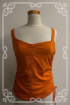 Leuke en sierlijke oranje top van A-rticles maat 40
