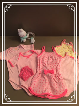 Roze setje met jumpsuit - Maat 56