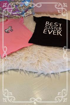 Roze en zwart shirt van Zeeman maat 98/104