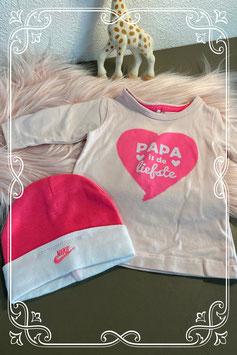 Tweedelig roze setje van de merken Name It en Nike - maat 50