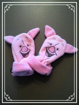 Roze wantjes met Knorretje van Disney - voor baby's van 3-6 maanden