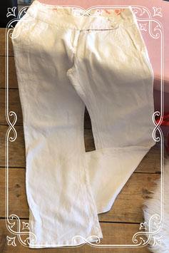 Witte linnen broek van vila clothes-maat xs