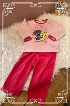 roze pyjama van Woezel en Pip - maat 86