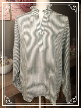 Groen gestreepte blouse – Maat XL