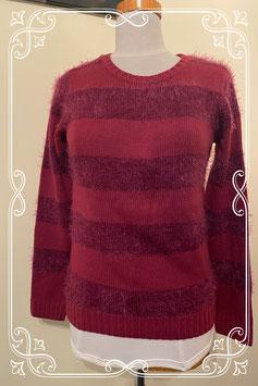 Nieuw! Bordeaux rode gestreepte trui van C&A maat S